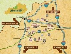 bourbon trail driving map | KY Bourbon Trail Distillery Maps « Bourbon Buzz