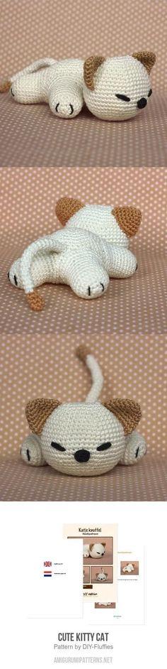 Cute Kitty Cat amigurumi pattern by DIY Fluffies