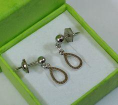 Vintage Ohrstecker - 925er Silber Ohrstecker Ohrringe Tropfenform SO124 - ein Designerstück von Atelier-Regina bei DaWanda