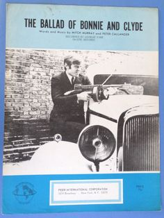 The Ballad of Bonnie and Clyde vintage sheet music Mitch Murray and Peter Callander Georgie Fame photo cover 1967 with Guitar Chords