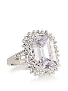 64% OFF CZ by Kenneth Jay Lane Emerald Cut Pave Ring