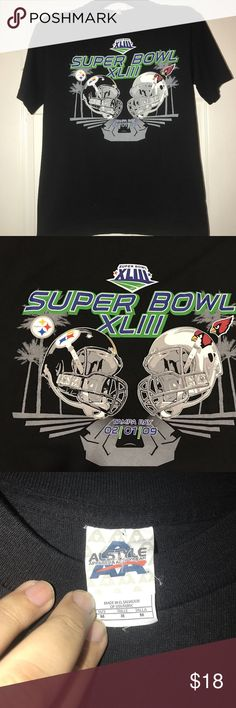 SUPER BOWL XLII STEELERS VS CARDINALS Tee Size M 2009 SUPER BOWL XLII STEELERS VS. CARDINALS T-SHIRT SIZE MEDIUM. USED ONCE IN GREAT CONDITION. Shirts Tees - Short Sleeve