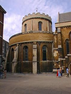 1000 year old Temple Church, once home to The Knights Templar - London, England, UK