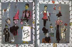 "Christian Berard, Illustration for Elsa Schiaparelli for ""Circus Parade"" collection 1938"