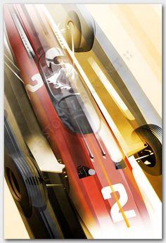 Historic Car Art: John Surtees Ferrari 512 F1  Awesome artwork!!!
