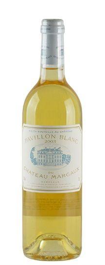 """Chateau Margaux """"Pavillion Blanc"""" 2003"""