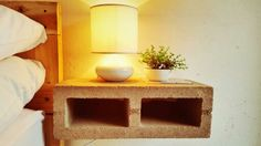 RUSTIQUE GRASKOP Concrete side table Floating Nightstand, Concrete, Table, House, Furniture, Home Decor, Rustic, Floating Headboard, Decoration Home