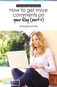 Engagement is the lifeblood of blogs - without it you're just screaming into a void - but getting your readers to leave a comment on your blog posts is the biggest challenge facing new bloggers. Check out these tips for getting more comments on your blog now > http://www.secretbloggersbusiness.com/blog-tip-tuesday-how-to-get-more-comments-on-your-blog-part-1/