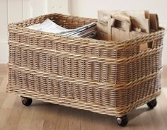 awesome basket with wheels  http://rstyle.me/n/jgjt9pdpe