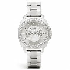 The Mini Boyfriend Stainless Steel Crystal Bracelet Watch from Coach