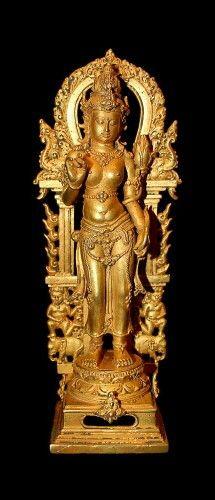 Balinese Gold Figure of Tara (900 - 1300)