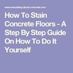 Heated stained concrete floor diy by eric and julie my for Finishing a basement step by step guide