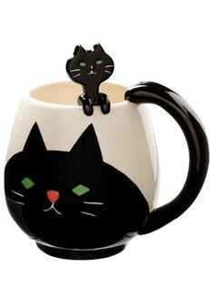 Kitty Fancy Mug Set  #cat #catmug #coffeemug