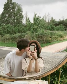 Imagen de couple, kfashion, and ulzzang