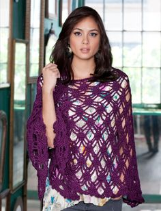 Yarnspirations.com - Bernat Bohemian Shawl - Patterns  | Yarnspirations - (Pattern Downloaded - SLT)