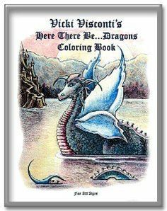 Vicki Visconti's Here There Be Dragons Coloring Book by Vicki Visconti-Tilley. $10.95. Faery's Coloring Book for All Ages featuring 20 beautiful faery, mermaid, and pixie images to color, paint, crayon and FRAME!  All beautiful 8 x 10 sizes!  The back inside cover of the coloring book is a full size 8 x 10 feature print of the Art by Vicki Visconti.  All of the enchanting pictures are created from paintings and drawings from this fantastic fantasy artist.  It's dr...