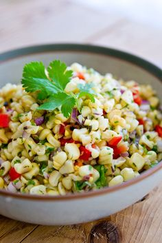 Fire Roasted Corn Salsa - I have leftover corn from our redneck corn roasting party the other night, so I'm gonna make this.