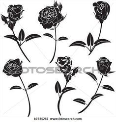 Rose Flower View Large Clip Art Graphic