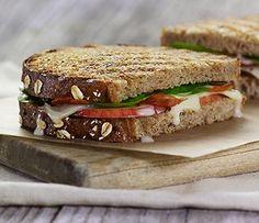 bacon apple melt: whole grain bread + applewood smoked bacon + white ...