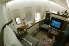 The good old day's; upgraded to First Class on Cathay Pacific