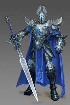 Male knight with two-handed sword
