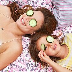 Create a relaxing retreat! Learn how to turn your home into a DIY salon and #spa: http://www.parents.com/parenting/moms/beauty/beauty-bonding-josie-maran/?socsrc=pmmpin130423jfmBeautyofBonding