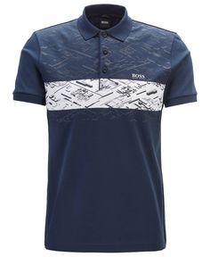 Boss Men's Paule 5 Slim-Fit Polo Shirt - Navy Camisa Polo, Burberry Men, Gucci Men, Slim Fit Polo Shirts, Boys Shirts, Baby Clothes Shops, Men Sweater, Mens Fashion, Moda Masculina