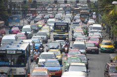 Traffic Congestion in Bangkok Center Traffic Congestion, Bangkok Travel, Transportation, Thailand, Street View, Activities, City, Cities, Corks