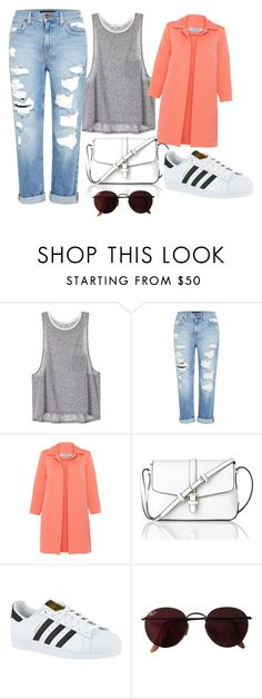 """Untitled #5"" by anetahavlikova on Polyvore featuring Genetic Denim, D.Exterior, L.K.Bennett, adidas and Ray-Ban"
