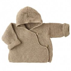 Ketiketa: Hand knit Nepalese hooded jacket for newborn babies with side button fastening. In a warm, earthy beige, appropriate for a boy or girl. 100% 4-ply cashmere / http://www.sweetwilliamltd.com/index.php/baby/knits/hand-knit-hooded-cholo-beige.html#