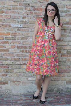 wearing handmade --> pattern: The Washi Dress from Made by Rae // Fabric: Bari J for Art Gallery