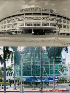 Dito, Noon: Araneta Coliseum, 1960 x 2019. #kasaysayan — The Araneta Coliseum was constructed from 1957 to 1959, and designed and built by Architect Dominador Lacson Lugtu and Engineer Leonardo Onjunco Lugtu. The structure is now known as the Smart-Araneta Coliseum. Present Day, Engineer, Marina Bay Sands, Philippines, Construction, Building, Travel, Design, Art
