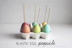 Plastic Egg Popsicle Mold with a No Refined Sugar Popsicle Recipe