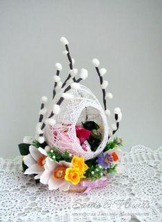 Bellas decoraciones con esferas de hilo - Dale Detalles Jute Crafts, Egg Crafts, Easter Crafts, Crafts For Kids, Crafts To Sell, Diy And Crafts, Arts And Crafts, Spring Crafts, Holiday Crafts