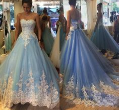 Navy and White Wedding Dress Luxury New Sleeveless Blue White Beaded Applique Lace Tulle Ball Gowns Wedding Dress with Color Bridal Gowns Vestido De Noiva Robe De Mariage Beautiful Ball Modest Prom Gowns, Elegant Bridesmaid Dresses, Blue Wedding Dresses, Tulle Prom Dress, Gown Wedding, Dress Lace, Tulle Wedding, Gown Dress, Elegant Wedding
