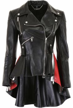 Alexander McQueen Leather Biker Jacket - Most Expensive Shoe Brands Gothic Outfits, Edgy Outfits, Celebrity Outfits, Girl Outfits, Fashion Outfits, Biker Outfits, Celebrity Babies, Celebrity Photos, Celebrity News