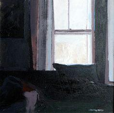 pillow on sofa ~ oil on canvas ~ by joan cobb marsh