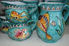 Sicily, Bella, Pottery, Future, Tableware, Hand Painted Pottery, Fruit Bowls, Dishes, Ceramica