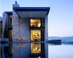 Dream House.  Modern Block House