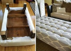 How To Turn A Coffee Table Into An Ottoman...http://homestead-and-survival.com/how-to-turn-a-coffee-table-into-an-ottoman/