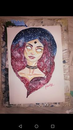 #galaxy #space #wattercolour #girl #deep #abstract