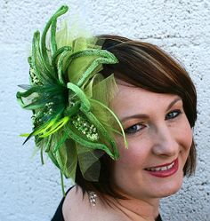 St. Patrick's Day Hair Fascinator Light Emerald by bluemickey, $29.99