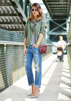 7 Truly Genius Ways To Wear Boyfriend Jeans via @WhoWhatWear