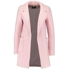 ONLY ONLELLA BAKER Blazer ❤ liked on Polyvore featuring outerwear, jackets, blazers, pink blazer jacket, pink jacket, blazer jacket, creme blazer and cream jacket