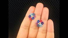 Beaded earrings 288511919881387035 - Cluster Flower Post or Stud Earrings Beaded Earrings Native, Beaded Earrings Patterns, Seed Bead Earrings, Diy Earrings, Bracelet Patterns, Stud Earrings, Cluster Earrings, Beaded Bracelets, Black Earrings