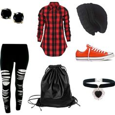 Teen clothing by regimeb on Polyvore featuring polyvore fashion style Converse Xenab Lone B. Brilliant Laundromat