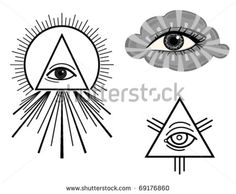 The Eye of Providence - symbols. Vector illustration saved as EPS AI 8, no effects, easy print.