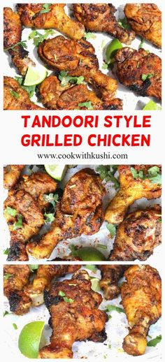 TANDOORI STYLE GRILLED CHICKEN #barbecue #barbeque #bbq #tandoori #chicken #meat #grilling #recipe #starter #appetizer #summer #drumsticks #wings #spicy