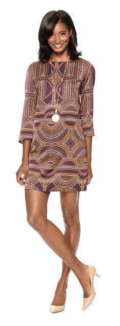 Printed Shift Dress from THELIMITED.com