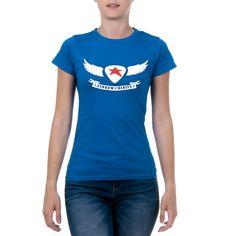 Andrew Charles Womens T-Shirt Short Sleeves Round Neck Blue TARANA – Reseller Hub
